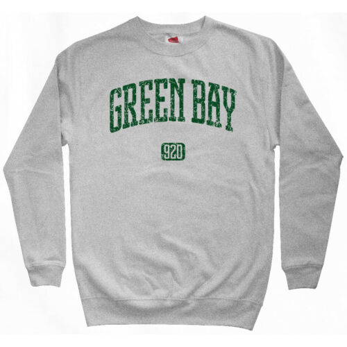 Green Bay 920 Sweatshirt Crewneck WI Wisconsin Packers GRB Football  Men S-3XL