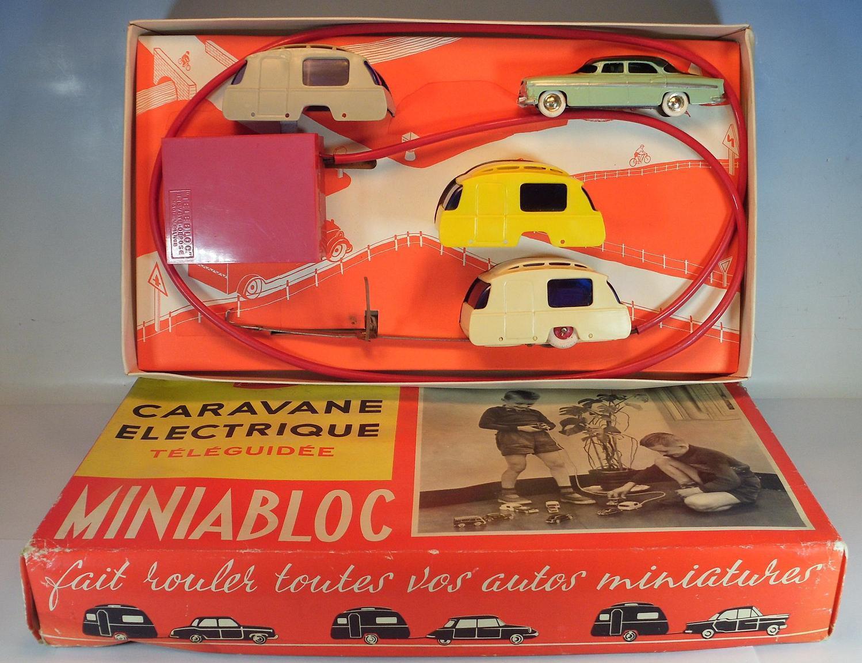 Cij & Jouets ador miniabloc Caravane Electrique & chrysler windsor en ORIG-Box