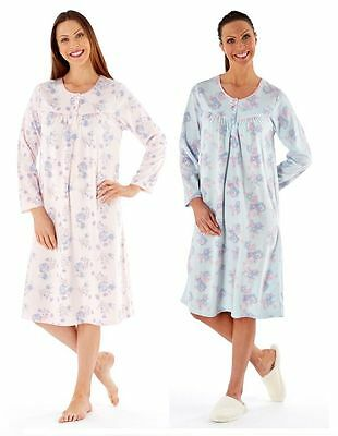 Clothing, Shoes & Accessories Women's Clothing Contemplative New Ladies Knee Long Nightdress 100% Polyester Fleece Pink Or Aqua Ln318a