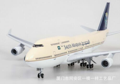 1 150 Saudi Arabian Boeing 747 Airlines Passenger Plane Model With Light&Sound