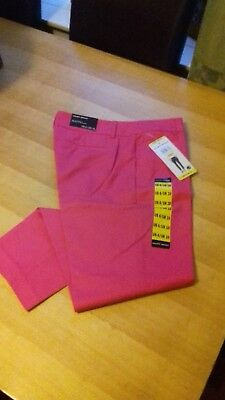 LADIES PINK CROP SUMMER TROUSERS   BNWT SIZE M 10