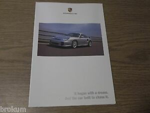 2002 porsche all models brochure poster gt2 8 pages 30 x 22