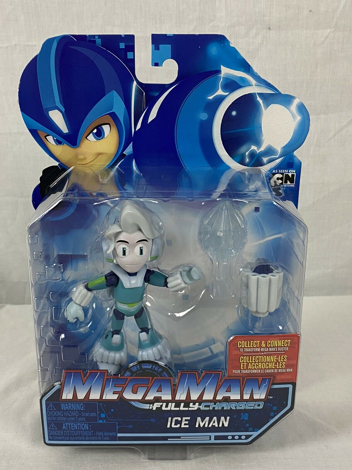 Mega Man Fully Charged Ice Man Action Figure 2019 Jakks Pacific Cartoon Network For Sale Online