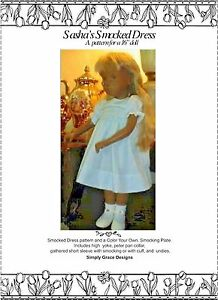 Smocked Dress with Smocking Plate for Sasha ~ Simply Grace Designs
