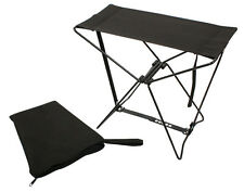 Black Lightweight Portable Chair Folding Camp Stool Camping Rothco 4474