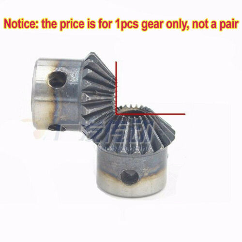 1.5M20T Bevel Gear 1.5 Mod 20 Tooth 90° Pairing Use Bore 6//6.35//8//10//12mm x 1Pcs