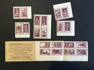 France-early-Cinderella-propaganda-stamps-in-pairs-and-booklet-Joan-of-Arc