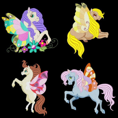 FLUTTER HORSES FREE SHIPPING 4 inch-10 Machine Embroidery Designs CD