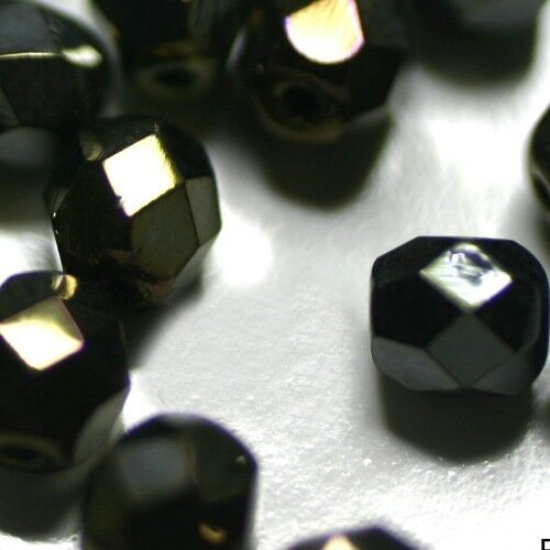 6MM   IRISE BRUN 30 PERLES CRISTAL FACETTES Cristal Bohême
