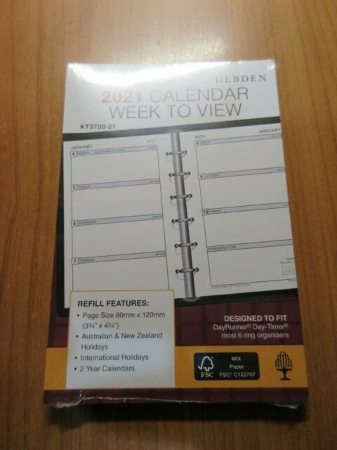 2021 COLLINS DEBDEN DIARY REFILL POCKET EDITION WEEK TO PAGE/ OPENING  KT3700