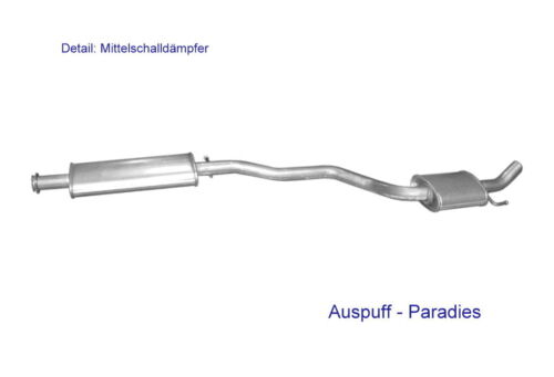Kit Typ 937/_ Mittelschalldämpfer für Alfa Romeo 147 1.6 16V /& 2.0 16V TS