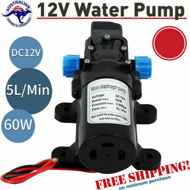 12V DC 115Psi High Pressure Diaphragm Self Priming Cleaning Water Pump 5Lpm 60W