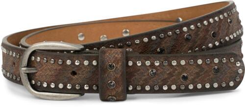 cintura vintage accorciabile da donna BORCHIE sottile cintura con strass e strisce