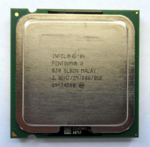 Intel Pentium D 830  3GHz//2M//800MHz  Socket 775 Processor SL8CN