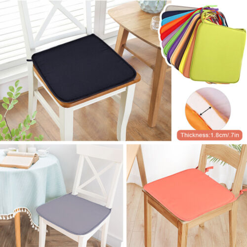 1//4PCS Soft Tie On Seat Pads Dining Chair Kitchen Garden Outdoor Room Cushions