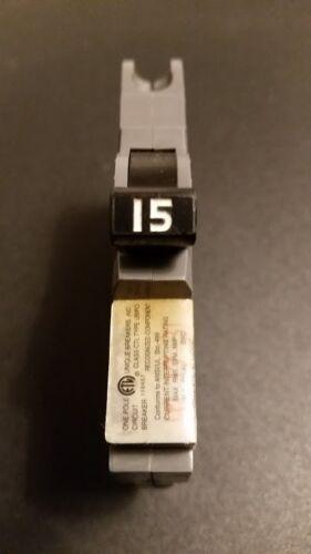 UBI Type F Circuit Breaker UBIF-015 15amp Thin Series Single Pole 120//240V NOS