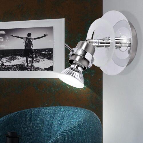 Chrom Decken Leuchten Wand Beleuchtung Wohn Zimmer Spot Strahler schwenkbar