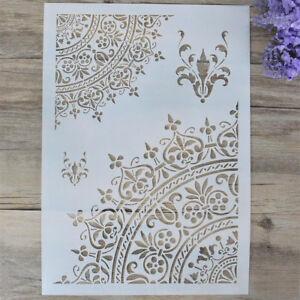 Blumenschablonen-fuer-Waende-scrapbooking-Stempelalbum-dekorativ-malen-ZG