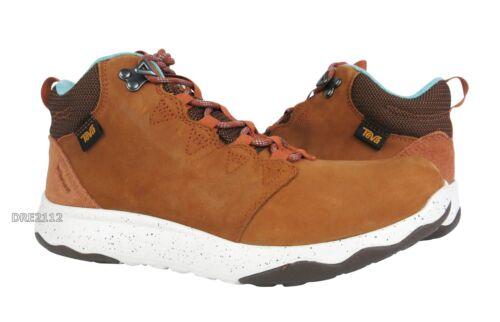 Teva Arrowood Lux Mid WP Cognac Brown Leather Boots Womens Size 8 *NIB*