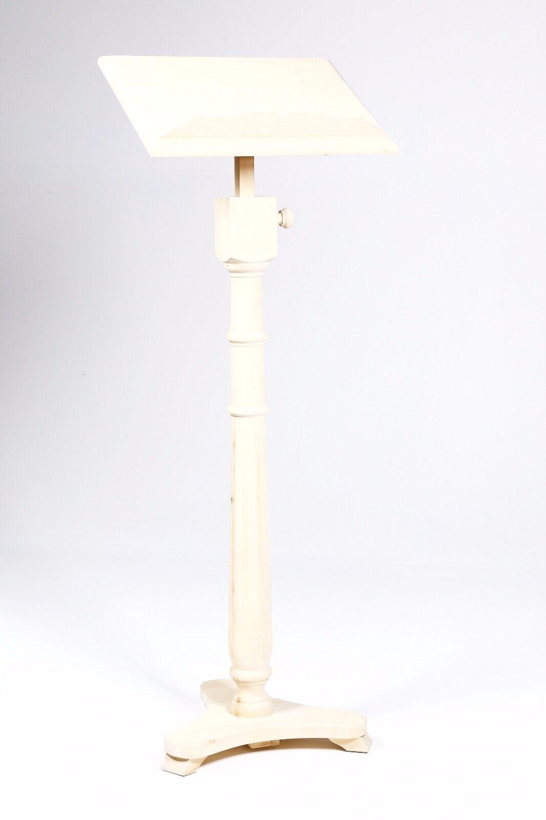 Bellissimo Leggio in legno Faggio al grezzo con colonna scanalata da decorare