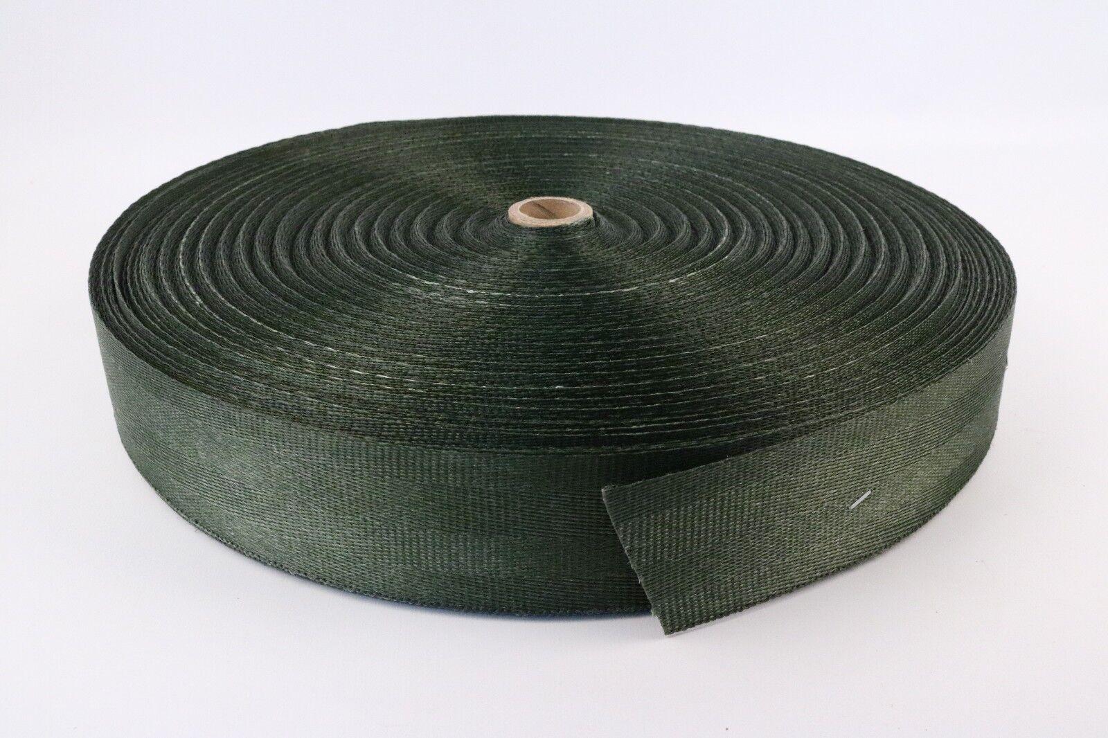 5x Webbing Green Nylon Strapping Strap Outdoor 175 Yards x 2  W