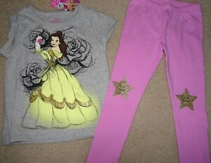 NWT GYMBOREE MANY SIZES GYMFRIENDS DISNEY BELLE ROSE TEE COSMIC CLUB LEGGINGS