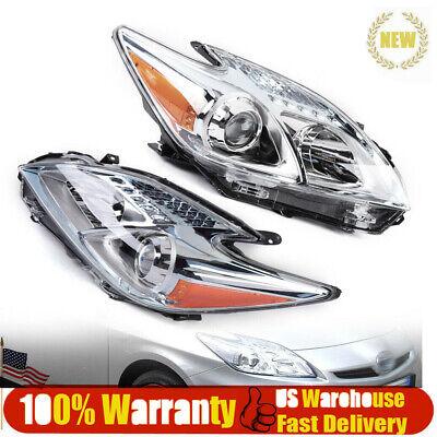Headlight Headlamp Halogen LH /& RH Pair Driver /& Passenger Set for Toyota Prius