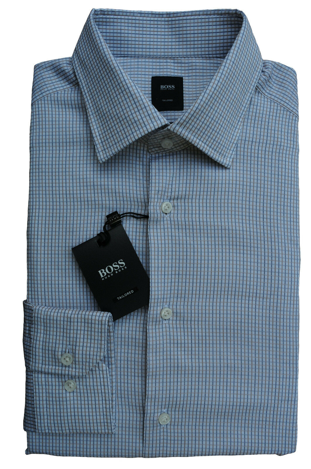 NUOVO Gr. 40 HUGO HUGO HUGO BOSS JT-Stuart tailored Camicia regular fit Rust 50375150 891a1c