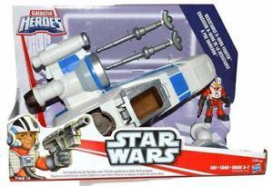 Disney-Playskool-Heroes-To-Star-Wars-Galactic-Heroes-Poe-039-s-X-Wing-Fighter