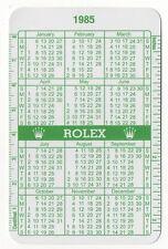 Buy Vintage Rolex 1985 Calendar Translation Green Wallet Online Ebay