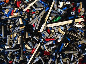 Lego-Technic-100-gemischte-Buesche-Pin-Achsen-Verbinder-Liftarm-Gear-Zahnrad-etc