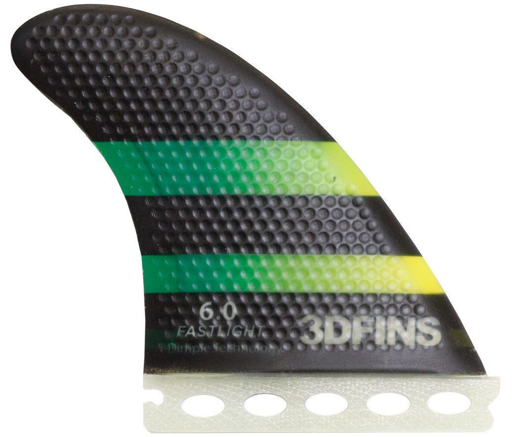 3 dfins - 6.0 fastlight (futuros) - Medio Grande-Propulsor-Tabla De Surf Aletas
