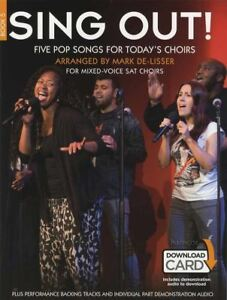 Chantez 5 Cinq Chansons Pop For Today's Choirs Mixte-voix Sat Music Book/audio-afficher Le Titre D'origine