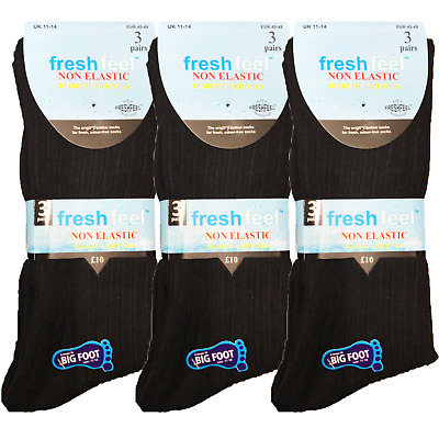 Comfort Fit Cotton Non Elastic Loose Top Extra Wide Diabetic Socks 6-11 UK