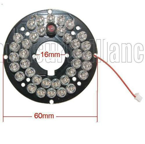 36 Infared 0.5mm 60 Degrees spread Clear LED Board for Dome CCTV Cameras