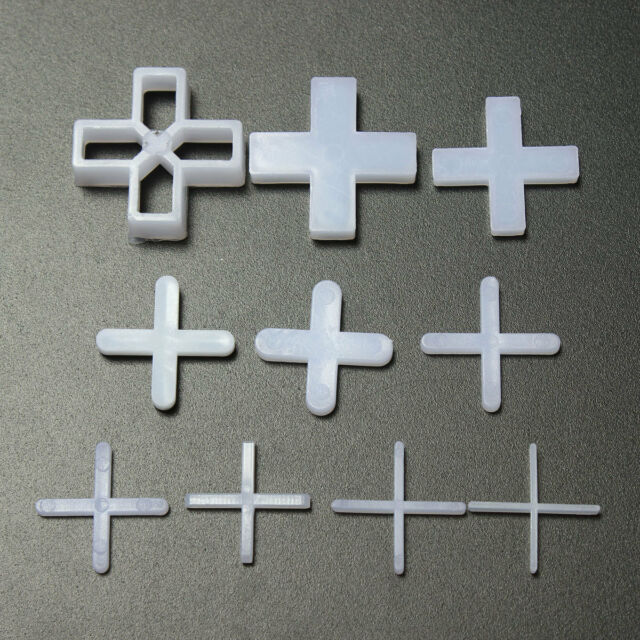 100 Pcs Cross Type Tile Spacers for leveling system Spacing Floor  Wall Tiles