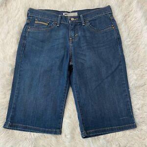Levis-Womens-Size-4-Blue-Denim-Bermuda-Jean-Shorts-12-034-Inseam-EUC