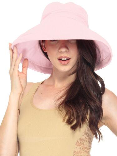 Women/'s Cotton Beach Bucket Hat Wide Brim Outdoor Fishing Sun Protection Hat