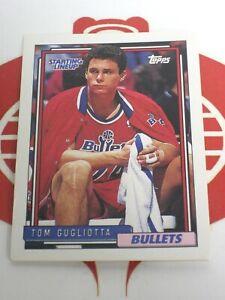 Starting Lineup Player Card Tom Gugliotta Washington Bullet 1994 Kenner TOPPS #2