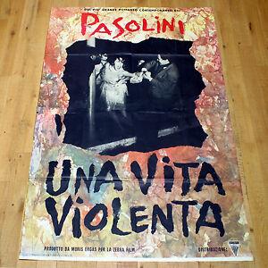 UNA VITA VIOLENTA manifesto poster affiche Pier Paolo Pasolini Franco Citti | eBay