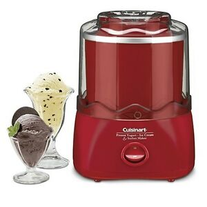 Cuisinart-Red-Ice-Cream-Maker-Makes-Up-To-1-5-Quarts-of-Ice-Cream