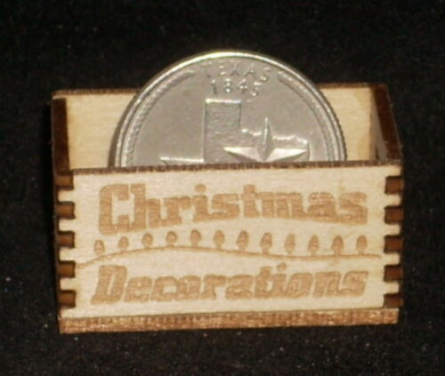 Dollhouse Miniature Christmas Decorations Crate 1:12 Scale Toys Santa Holiday