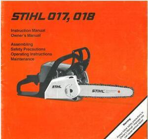 Stihl chainsaw 017 018 chain saw operators manual ab2 ebay image is loading stihl chainsaw 017 amp 018 chain saw operators keyboard keysfo Image collections