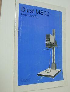 DURST M800 notice agrandisseur photo photographie