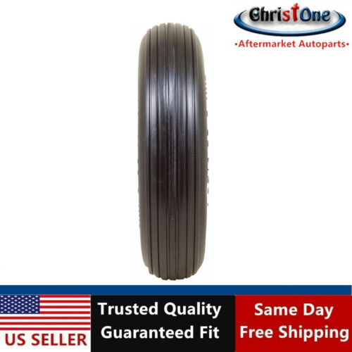 "Universal 14.5/"" 3.50-8 Ribbed Tread Flat Free Garden Wagon Wheelbarrow Tire T157"