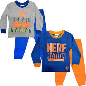 Garcons-Nerf-Nation-Pyjama-Set-Longue-Pjs-Nightwear-Character-Enfants-Cadeau-3-10-ans