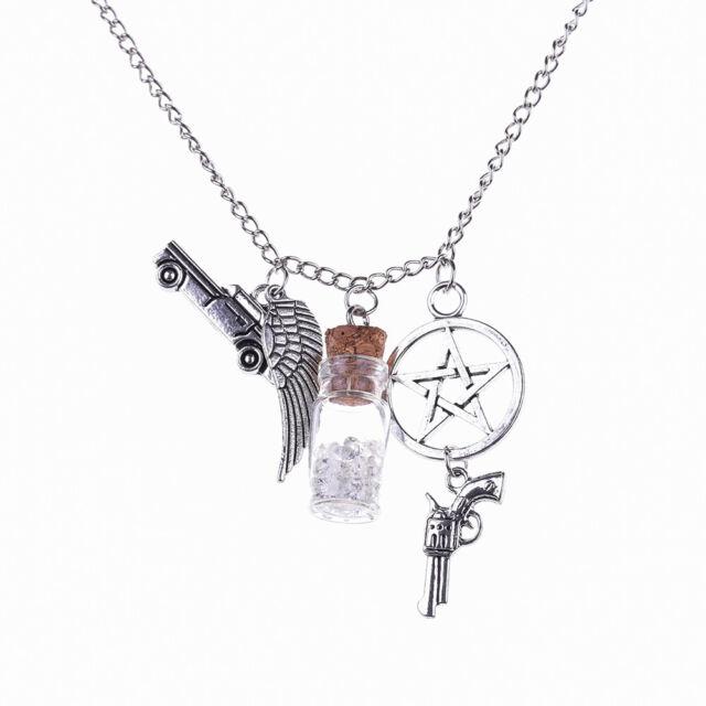 Salt Charm Necklace Bottle Necklace Supernatural Supernatural Inspired