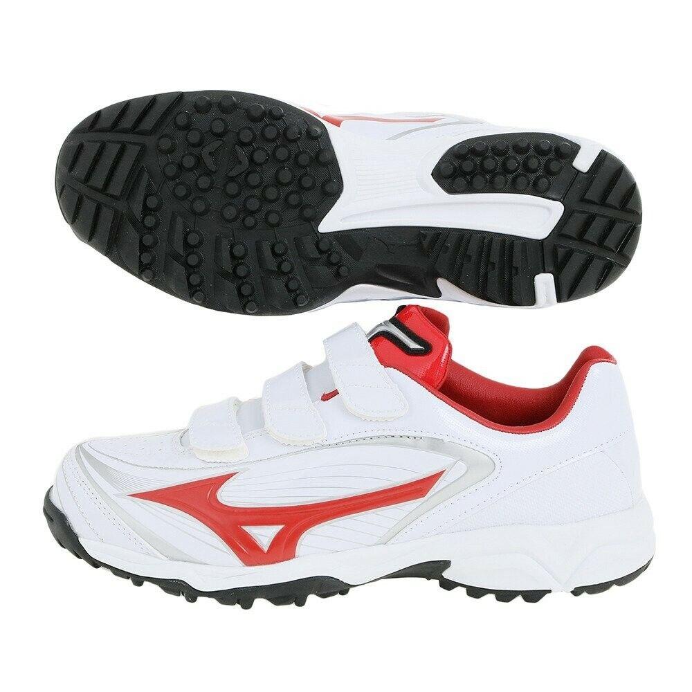 Zapatos de béisbol de Mizuno seleccionar nueve entrenador CR 11GT1722 blancoo Rojo Con Seguimiento