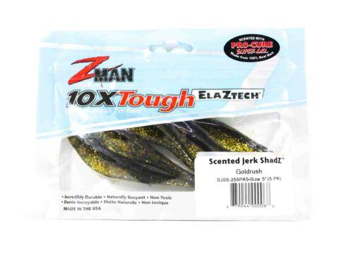 Zman Soft Lure Jerk ShadZ 5 Inch 5 per pack Gold Rush 0068