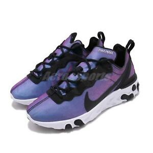 8944e518 Nike Wmns React Element 55 PRM Black Laser Fuchsia Women Running ...